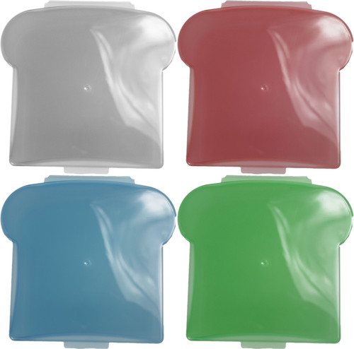 Set of Hinged Sandwich Containers - Microwave Safe - Reusable - Washable - Recyclable - Holds 2.5 Cups