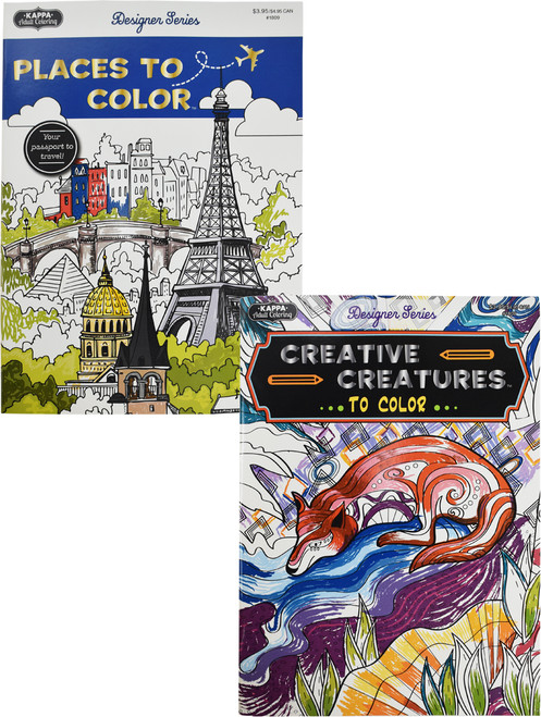 Set of Fun Coloring Books - Perfect for Adults and Kids Alike - Fun Animal and City Designs