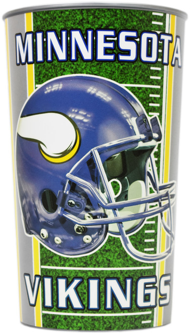 Set of Minnesota Vikings 20oz Cups - BPA Free - Dishwasher Safe - Made in USA- Represent Your Team in Style with These Top Quality Cups