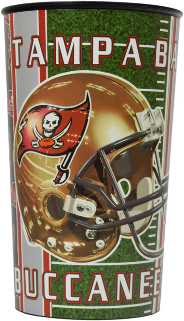 Set of Tampa Bay Buccaneers 20oz Cups - BPA Free - Dishwasher Safe - Made in USA- Represent Your Team in Style with These Top Quality Cups