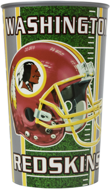 Set of Washington Redskins 20oz Cups - BPA Free - Dishwasher Safe - Made in USA- Represent Your Team in Style with These Top Quality Cups