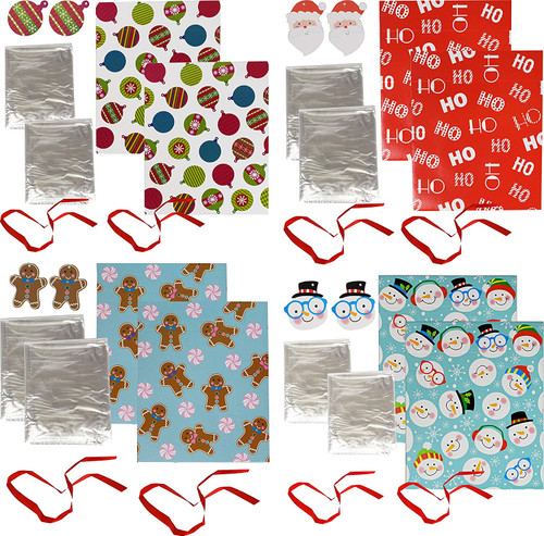 """Set of Assorted Holiday Cookie Deliver Trays - Display and Give Away Treats in Holiday Style - Tray Measures 1.5"""" X 6.5"""" X 6.5"""""""
