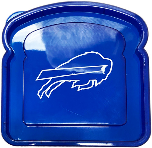 """Buffalo Bills Sandwich Container - Perfect for Taking Your Team Spirit on the Go -  Measures 4.5"""" X 4.75"""""""