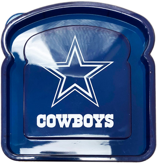 """Cowboys Sandwich Container - Perfect for Taking Your Team Spirit on the Go - Measures 4.5"""" X 4.75"""""""