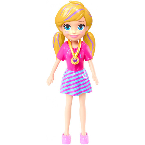 """Polly Pocket Doll with Trendy Outfit - 2018 Collectors Edition - Measures Approx. 3.5"""" Tall (1 Doll)"""
