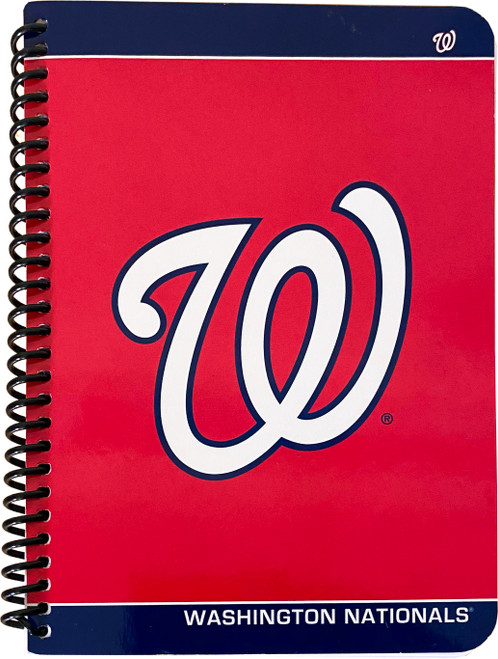 """Washintong Nationals 80 Page Notebook - Wide Ruled - Measures 5"""" X 7"""""""