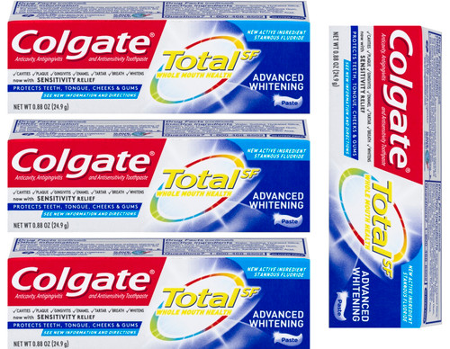 Set of 4 Colgate Total Advanced Whitening - Sensitivity Relief - Whole Mouth Health