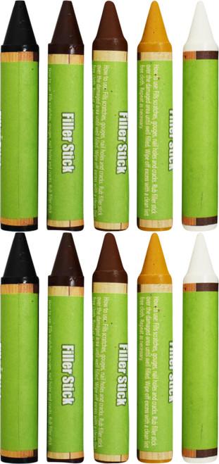 Set of  Wood Filler Sticks - Furniture Repair, Floor Repair, Door Repair, and More! - 5 Colors