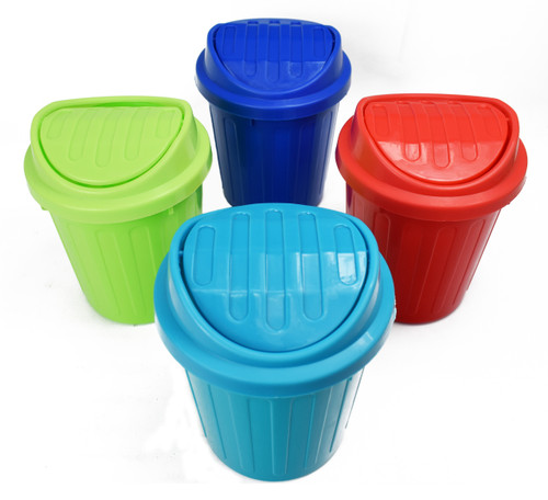 Set of Mini Trash Cans for Your Room, Desk, Countertop and More! - 4 Colors