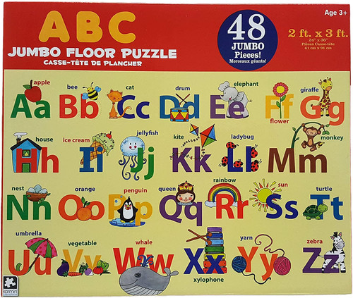 Educational Numbers 48pc JUMBO Floor Puzzle! 2ftx3ft For Toddlers 3+