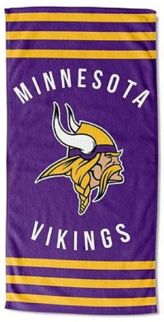 "The Northwest Company NFL Team Logo, Stripes Beach Towel, 30"" x 60"""