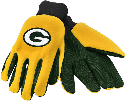 FOCO NFL Green Bay Packers Colored Palm Utility Work Gloves
