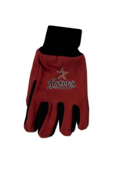 MLB Houston Astros Two-Tone Gloves, Orange/Black