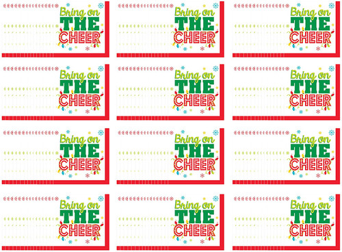 Set of 192 Holiday Napkins - Perfect for Holiday Gatherings and Dinners - Multisized Diameter (Bring Cheer Beverage Napkins)