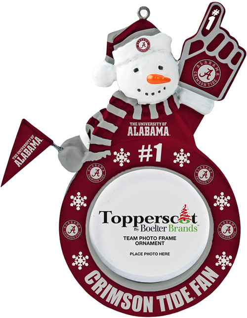 Topperscot by Boelter Brands NCAA Snowman Frame Ornament