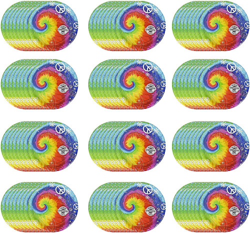 """Set of 96 Summer Party Plates - 6.87"""" Small Plates"""