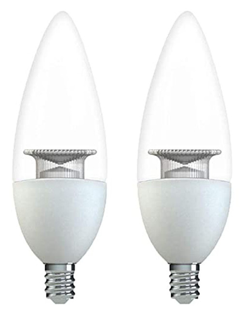 GE 32954 40W Equivalent Blunt Tip Dimmable LED Light Bulb 2-Pack