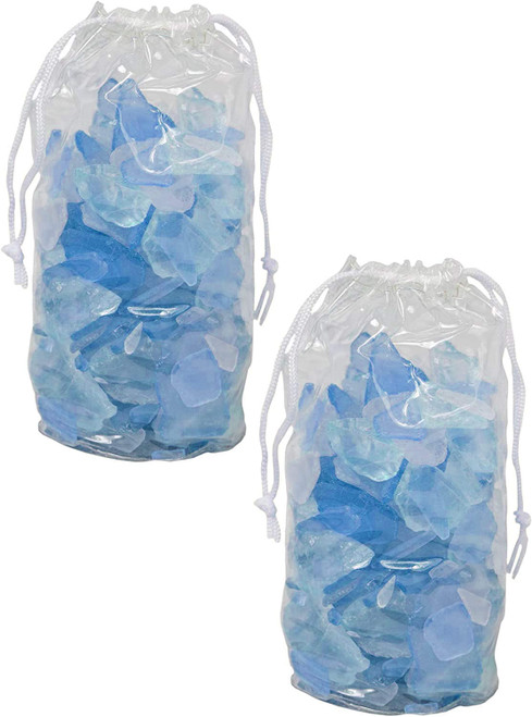 4 Pounds of Blue Sea Glass - Perfect for Aquariums, Vase Fillers, Table Scatter, Scrapbooking and Much More!