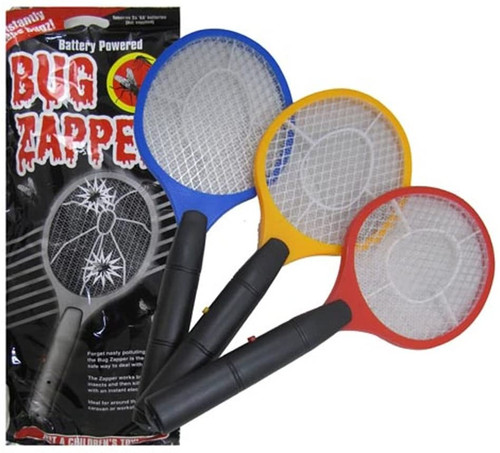 3 Assorted Bug Zappers - Battery Powered Electrical Bug Swatter - Tennis Racket Fly Swatter