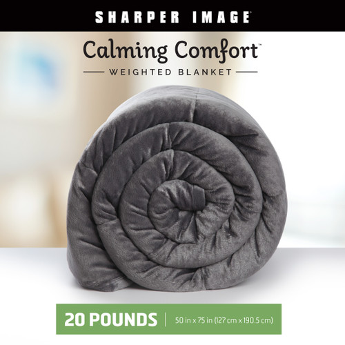 Calming Comfort Weighted Blanket by The Sharper Image, 20 lbs