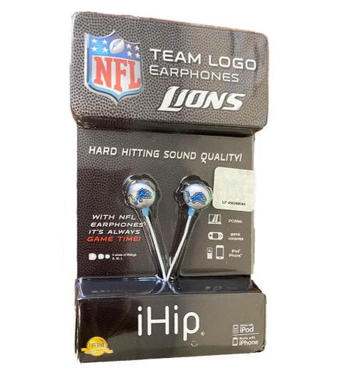 NFL Detroit Lions Earphones - Hard Hitting Sound Quality