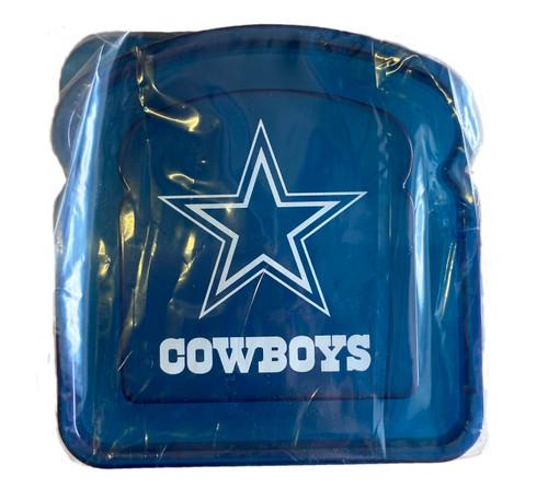 NFL Dallas Cowboys Team Logo Reusable Sandwich Container
