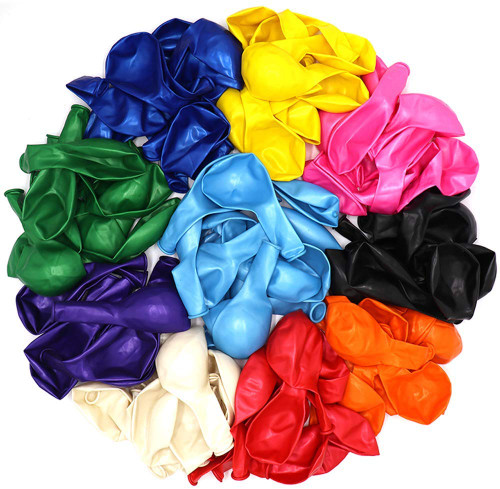 Assorted Colors and Size Party Balloons - 1/2 lbs