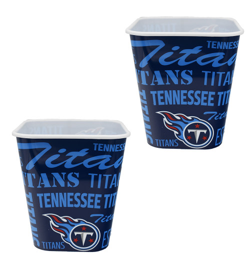 Set of 2 NFL Team Tennessee Titans Snack Buckets