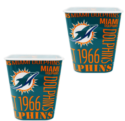 Set of 2 NFL Team Miami Dolphins Snack Buckets