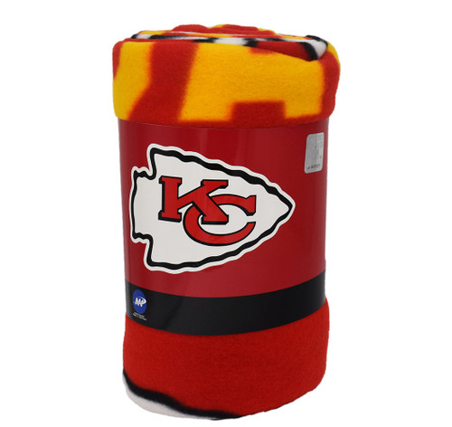 NFL Team Kansas City Chiefs Fleece Throw Blanket
