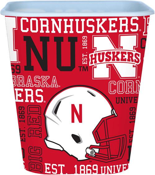 Nebraska Cornhuskers 3 Liter Reusable Plastic Snack Bucket