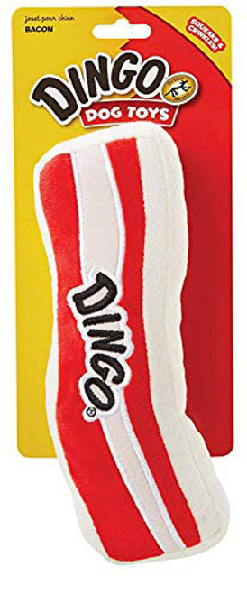 Dingo Bacon Toy - Soft Plush Bacon Toy That Dogs are Sure to Love!