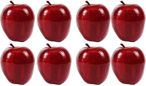 Artificial Dark Red Apples for Decoration - Sets of 8