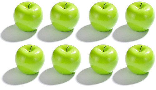 Artificial Green Apples for Decoration - Set of 8