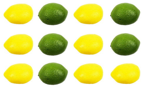 Set of 12 Life-Like Artificial Lemon & Lime Set! Weighted Fruit Feels Like The Thing!