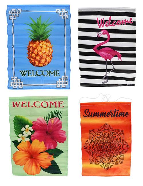 Set of 4 Beautiful Garden Flags - Perfect for Beautifying Your Garden