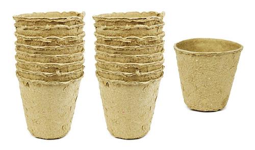 "Set of 16 Biodegradable Eco Friendly Peat Pots! - 3.125""x3"""