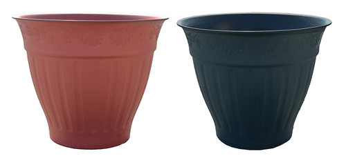 Set of 2 Round Fanciful Planter/Pots!