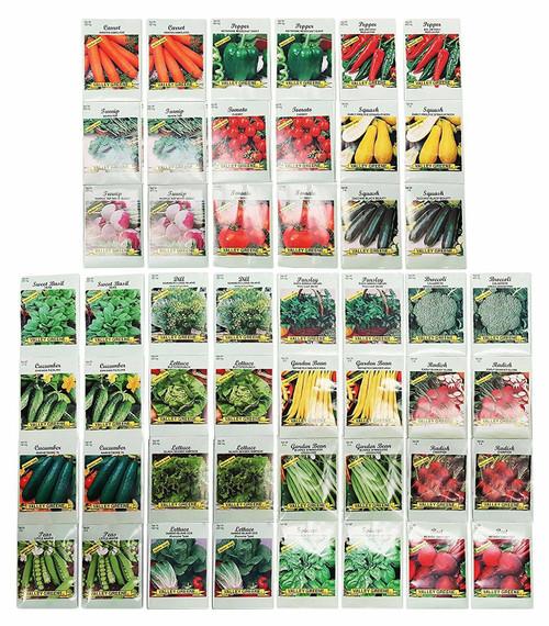 50 Packs Assorted Heirloom Vegetable Seeds 20+ Varieties All Seeds are Heirloom
