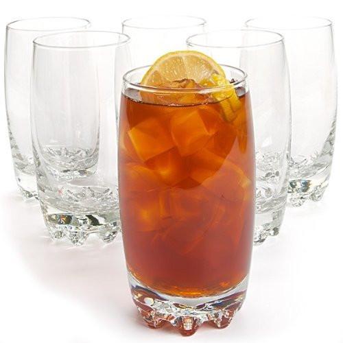 Set of 6 Beverage Glass' - Clear 14floz - Classy Fun Design