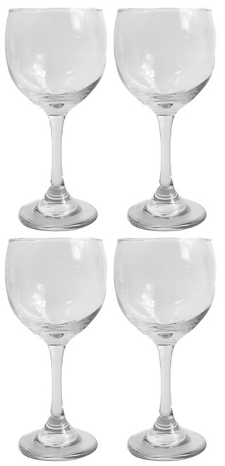 Set of 4 Tall Stemmed Wine Glasses - 12.5 Fluid Ounces - Crystal Clear