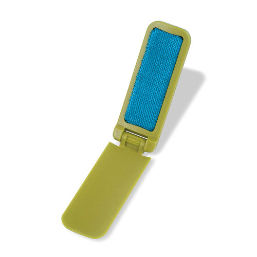 Combo Flip Travel Lint Brush/Shoe Horn - Flips Open - Green