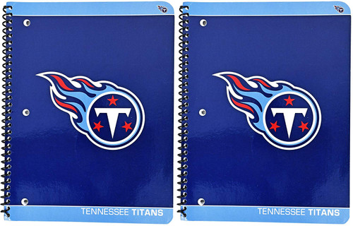Tennessee Titans Notebooks 80 Perforated Sheet Single Subject