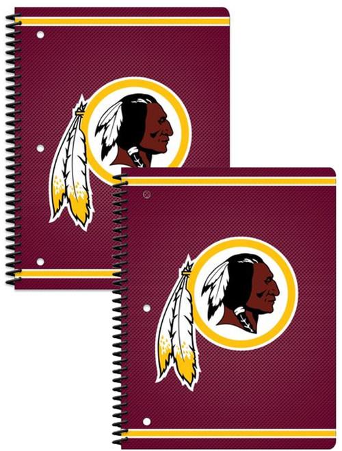 Washington Redskins Notebooks 80 Perforated Sheet Single Subject