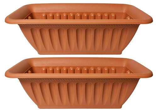 """Set of 2 Rectangle Planters! Perfect for Indoor and Outdoor Gardening - Measures 14.6""""X6.6"""""""