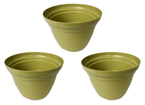 Set of 3 Olive Green Round Woven Bamboo Planters!Set of 3 Royal Blue Round Woven Bamboo Planters! Measures -7inx5in