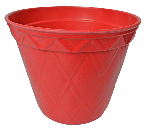 1 Vibrant Red Biodegradable Bamboo Planter Pots! Perfect for Easy Gardening! Measures - 7.48inx6.3in.h