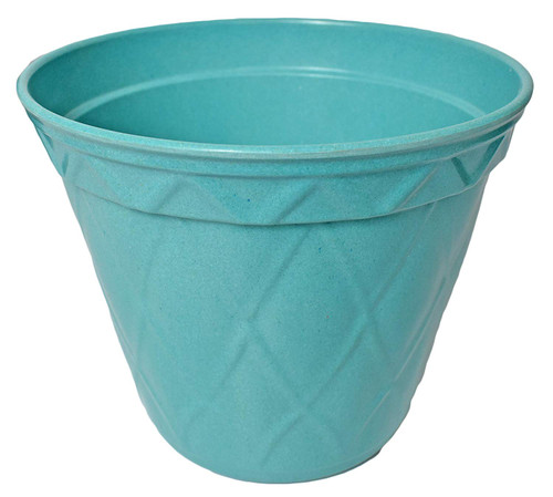 1 Light Teal Biodegradable Bamboo Planter Pot! Perfect for Easy Gardening! Measures - 7.48inx6.3in.h