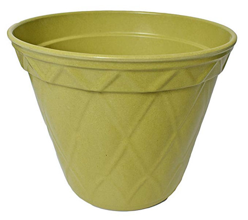 1 Olive Green Biodegradable Bamboo Planter Pots! Perfect for Easy Gardening -  Measures - 7.48inx6.3in.h