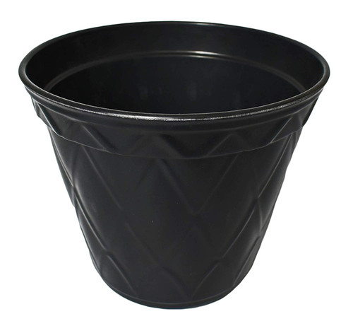 1 Pitch Black Biodegradable Bamboo Planter Pots! Perfect for Easy Gardening! Measures - 7.48inx6.3in.h